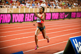 Genzebe Dibaba on her way to breaking the 1500m world record at the IAAF Diamond League meeting in Monaco (Philippe Fitte)