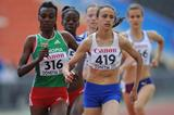 Dureti Edao and Anita Hinriksdottir at the 2013 IAAF World Youth Championships (Getty Images)