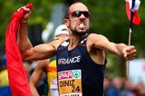 Yohann Diniz celebrates his world record in the 50km race walk at the European Championships in Zurich (Getty Images)