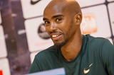 Mo Farah at the Monaco Diamond League press conference (Philippe Fitte)