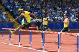 Javier Culson wins the 400m Hurdles at the Birmingham Diamond League (Mark Shearman)