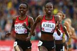 Purity Kirui beats Milcah Chemos to the Commonwealth 3000m steeplechase title (Getty Images)