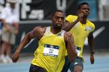Tyson Gay winning the 200m at the 2013 USA Championships (Kirby Lee)