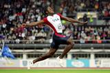 USA's Dwight Phillips on his way to gold at the 2005 IAAF World Championships in Helsinki (Getty Images)
