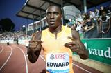 Alonso Edward after the 200m at the 2014 IAAF Diamond League meeting in Lausanne (Giancarlo Colombo)