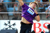 David Storl in action in the shot put at the IAAF Diamond League meeting in Lausanne (Victah Sailer)