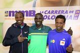 Tadesse Tola, Stanley Biwott and Tsegaye Mekonnen ahead of the Bogota Half Marathon (Victah Sailer / organisers)
