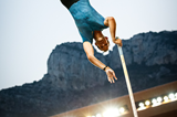 Renaud Lavillenie in the pole vault at the IAAF Diamond League meeting in Monaco (Philippe Fitte)