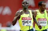 Edwin Soi en route to winning the 5000m at the IAAF Diamond League meeting in Paris (Jiro Mochizuki)