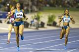 Francena McCorory wins the 400m in Kingston (Errol Anderson)