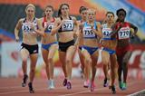 Action shot in the girls 800m at the IAAF World Youth Championships 2013 (Getty Images)