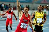 Ryan Bailey winning the men's 4x100m for the USA at the IAAF/BTC World Relays, Bahamas 2015 (Getty Images)