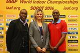 IAAF Ambassadors Bruny Surin, Natallia Dobrynska and Allen Johnson in Sopot (Getty Images)