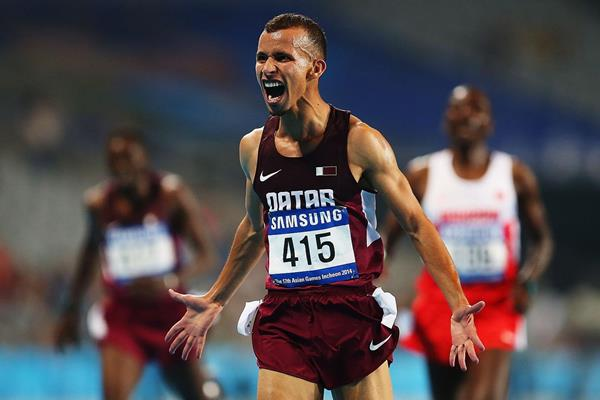 Mohamed Al-Garni after winning the 5000m at the 2014 Asian Games (Getty Images)